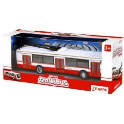 RAPPA Kovový trolejbus červený 16 cm