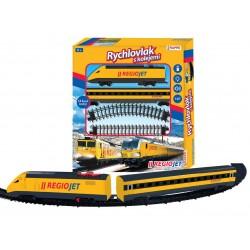 RAPPA Vlak žltý RegioJet so zvukom a svetlom