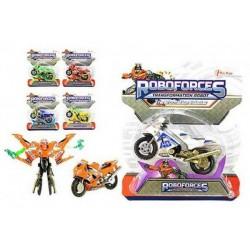 TOI TOYS Transformer robot/motorka na karte 11cm