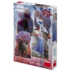 DINO Frozen II puzzle 4x54ks