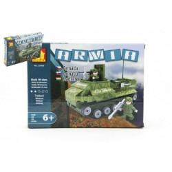 DROMADER 22408 Armáda vojaci Tank detská stavebnica 199 ks